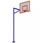 """ARTSG411 Krepšinio lenta su stovu """"FIBA"""""""