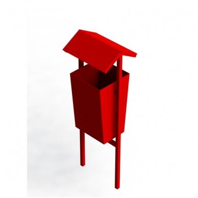 ARTDIO-915 Šiukšliadėžė su stogeliu