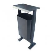 Metalinė šiukšliadėžė su stogeliu ARTDIO916BY