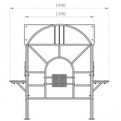 ARTDIO-244BY Metalinė darželio pavėsinė